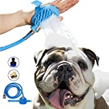 Maci-Fresh Pet Bathing Tool | Deluxe Shower Sprayer and Scrubber In-One for Pets | 8 ft Hose, Pet Grooming & Washing Tools for Dog Bath | Indoor Shower/Bathtub and Outdoor Garden Hose Compatible