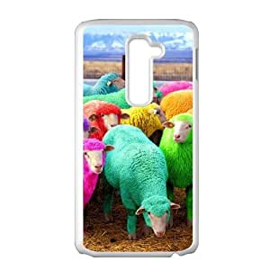 LIULAOSHI Sheep Phone Case for LG G2 White [Pattern-1] by Maris's Diary