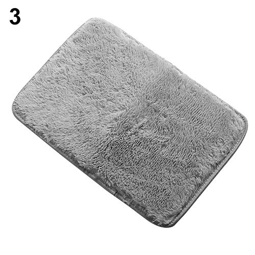 Rugs Anti-Skid Shaggy Area Rug Home Color Gray