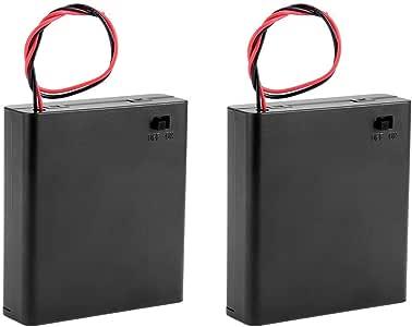Saim - Caja para Pilas AA de 6 V con Cable para Interruptor de ...