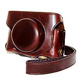 Dengpin Coffee Full Body PU Leather Oil Skin Camera Case Bag Cover for Fujifilm Fuji Finepix X30