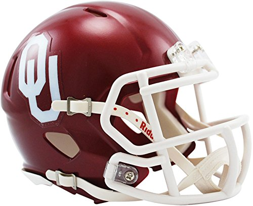 Helmet Mini Sooners Oklahoma (Riddell Oklahoma Sooners Revolution Speed Mini Football Helmet - College Mini Helmets)