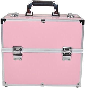 MCTECH® Estuche cosmético Beauty Case Alu SuitCase Estuche Maletín para maquillaje Estuche para cosméticos, 340 * 210 * 290mm (rosa): Amazon.es: Iluminación