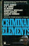 Criminal Elements, Bill Pronzini, 0804101272