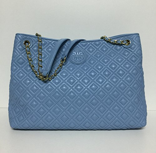 Tory Burch Marion Quilted Chain-shoulder Slouchy Tote 550  Northern Light S