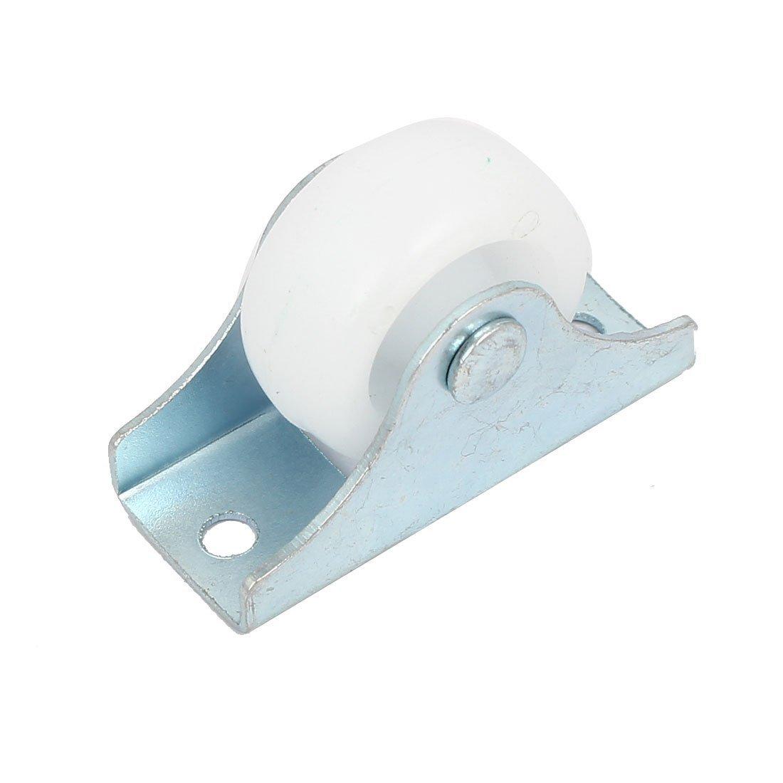 eDealMax DE 1 pulgada de Nylon sola rueda Metal de la placa Plana No giratorio del balanceo de la carretilla Ruedas 7pcs: Amazon.com: Industrial & ...