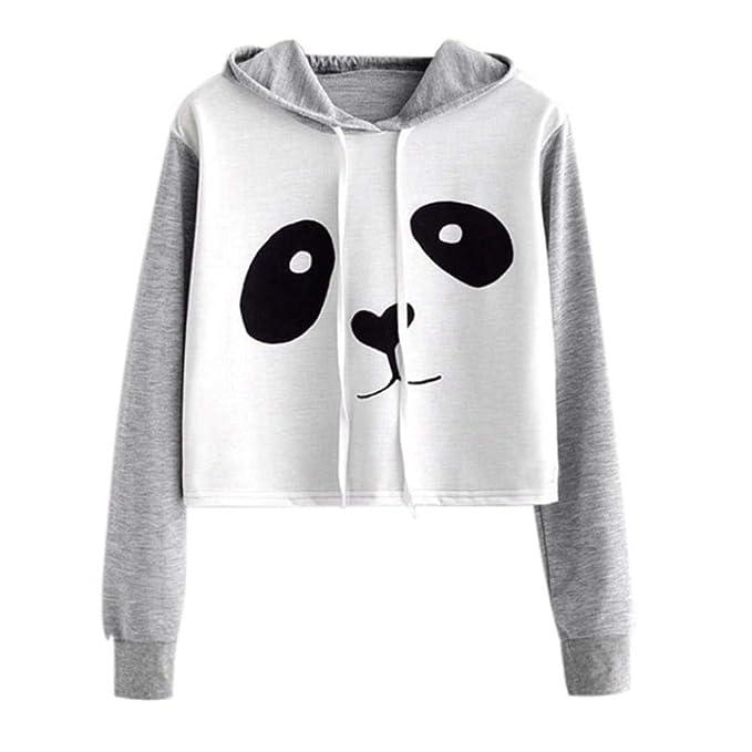 2bcc2867191b Women s Cowl Neck Hoodies Tops Long Sleeve Panda Print Lightweight Pullover  Sweatshirt at Amazon Women s Clothing store