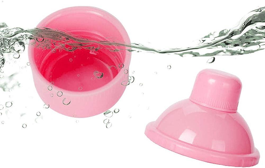 Newin Star Beb/é de leche en polvo dispensador de alimentaci/ón del beb/é del recorrido del almacenaje del envase 6 capas anti-derrame apilable Snack-contenedor de almacenamiento BPA rosa