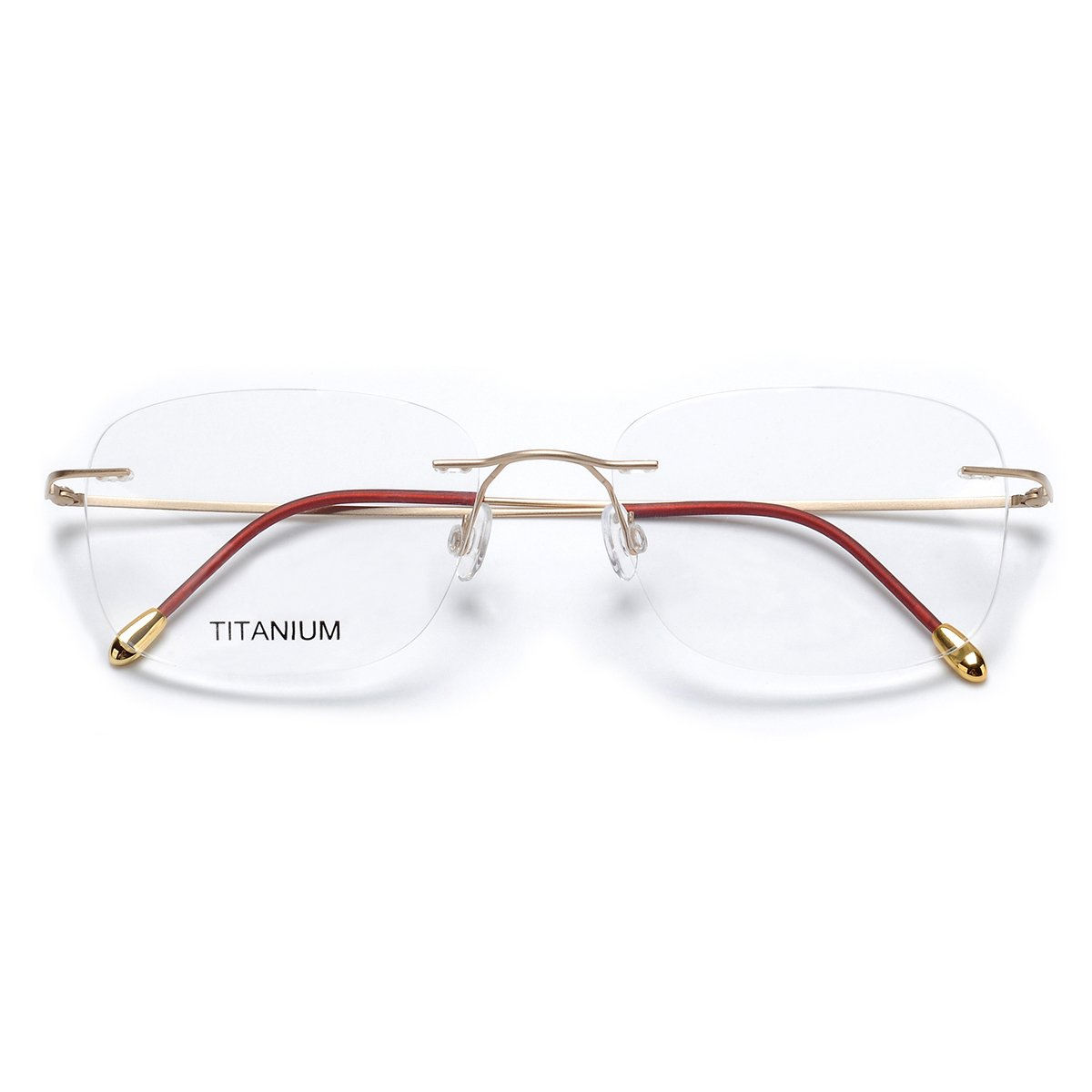 93c64dec35 Gafas de titanio con montura al aire DUKEROY 16010; disponibles de 4 colores,  estilo vintage, color dorado, unisex dorado Matt Gold 55-18-140: Amazon.es:  ...