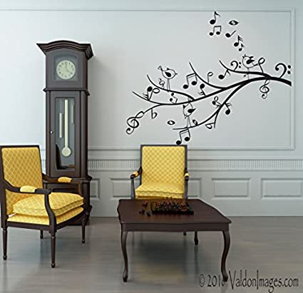 Amazon Com Music Tree Wall Decal Bird Wall Decal Living Room Wall