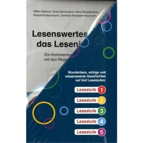Regenbogen-Lesekiste I. Lesestoff für Erstleser in den Lesestufen 1 bis 5: 40 Hefte à 16 S., plus Lehrerband, im Schuber Klasse 1/2