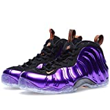 Nike Mens Air Foamposite One 'Phoenix' Electro Purple/Total Orange Synthetic Basketball Shoes Size 10.5