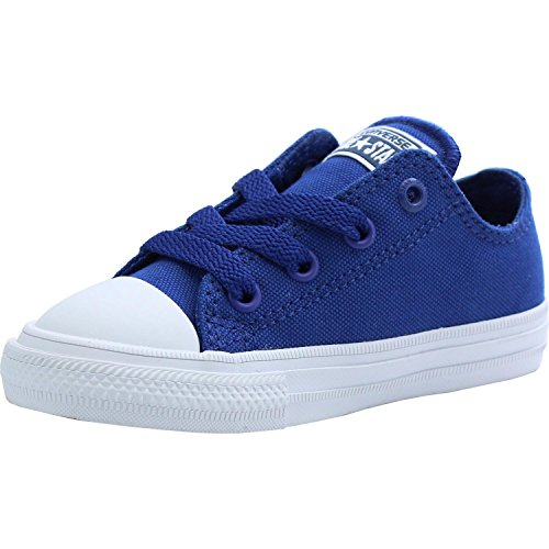 Converse Chuck Taylor All Star II OX Sodalite Blue Textile Baby Trainers Sodalite Blue