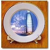 3dRose cp_56115_1 Beach Hotel in Dubai Porcelain Plate, 8-Inch