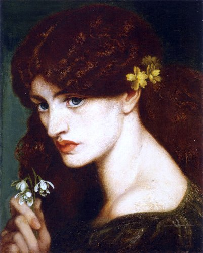 Dante Gabriel Rossetti Blanzifiore also known as Snowdrops Premium Canvas Print