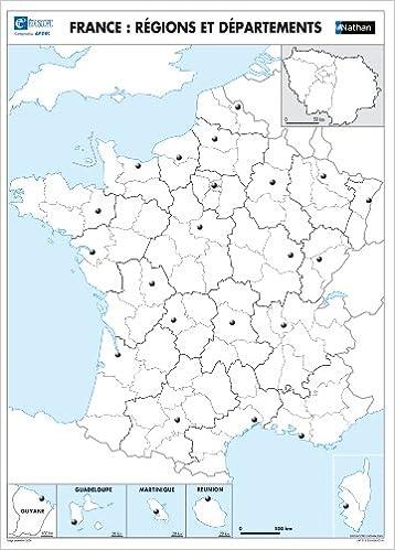 fond de carte de france Fond de carte muet : La France (Cartes murales géographie) (French