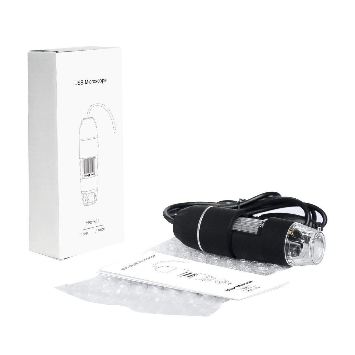Noir Mat Microscope num/érique Portable USB Multifonctions 300 000 Images USB /électronique sans Support