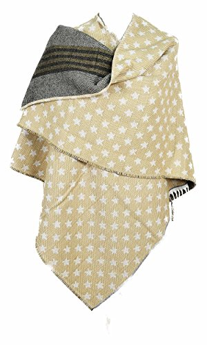 Madame Dutilleul - Cape poncho réversible Nocturne beige