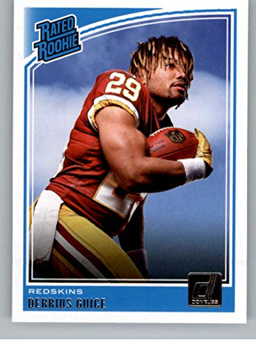 2018 Donruss Football #307 Derrius Guice RC Rookie Card Washington Redskins Rated Rookie Official NFL Trading Card ()