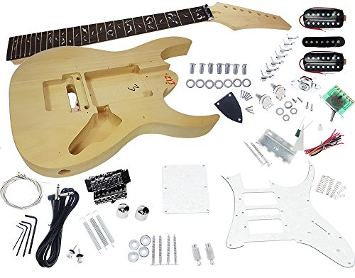 Solo JEK-7 DIY 7 String Electric Guitar Kit With Vine Inlay & Floyd Rose