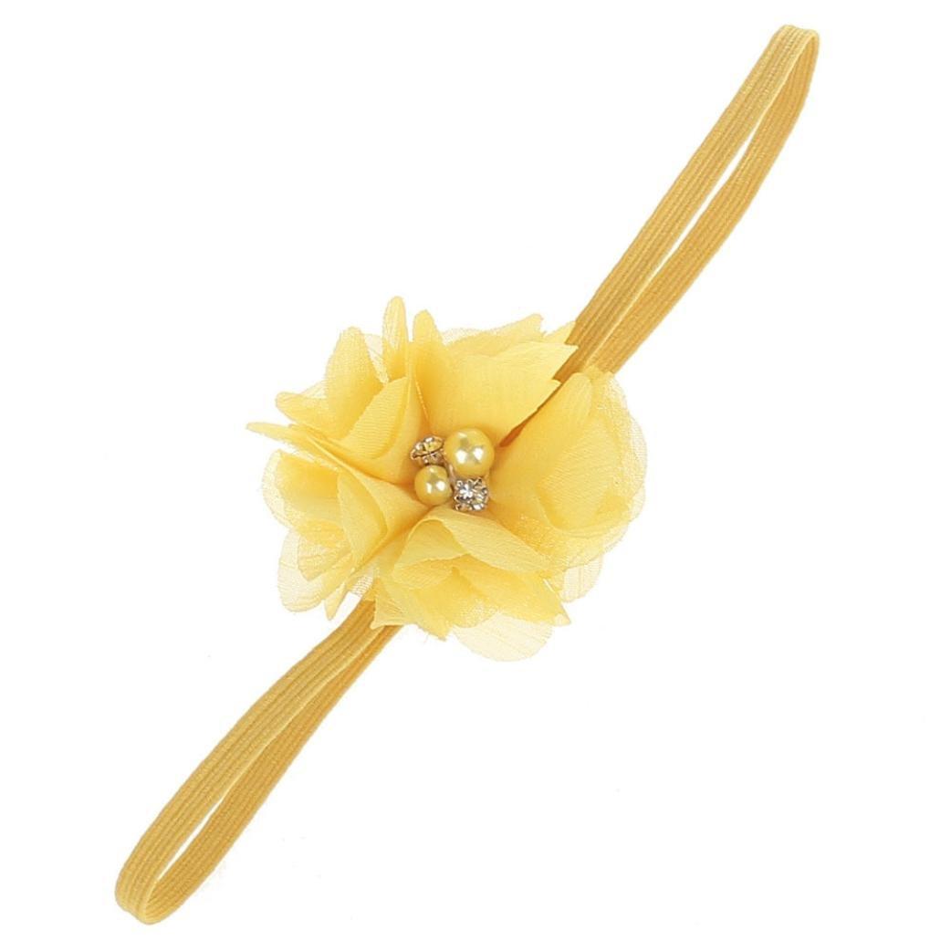 Huhu833 Kinder Mädchen Baby Kleinkind Blume Stirnband Haarband Baby Mädchen Zubehör Headwear für Kleinkinder