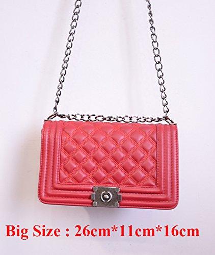 AASSDDFF Sacs Messenger Big pour 26cm Pochette rouge de main femmes Designer Sac luxe Marque à Sacs de à bandoulière soirée Sacs Chaîne UxTqUrwf