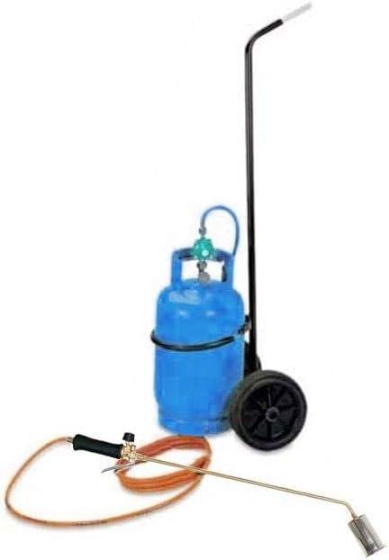 encendedor de gas con conexi/ón directa a botella de butano. con manguera y carrito Quita-hierbas t/érmico 60/mm