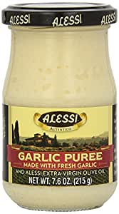 Alessi Garlic Puree 7.6 Ounce ( Pack of 2)
