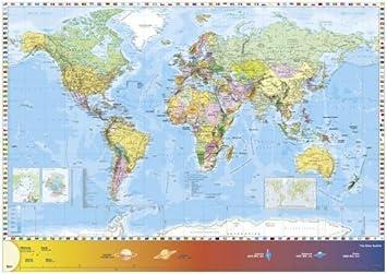 Schmidt world map jigsaw 1500 pieces amazon toys games schmidt world map jigsaw 1500 pieces gumiabroncs Images
