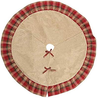 WARMWORD Tela Escocesa navideña Árbol de Navidad Falda Árbol de ...