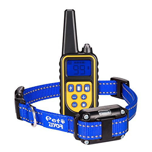 ZIYOR Dog Training Collar Shock Collar, 100 Waterproof and Rechargeable 850 yd Remote Dog Training Collar with Beep, Vibra and No Harm Shock Electric Collar for Small Medium Large Dogs
