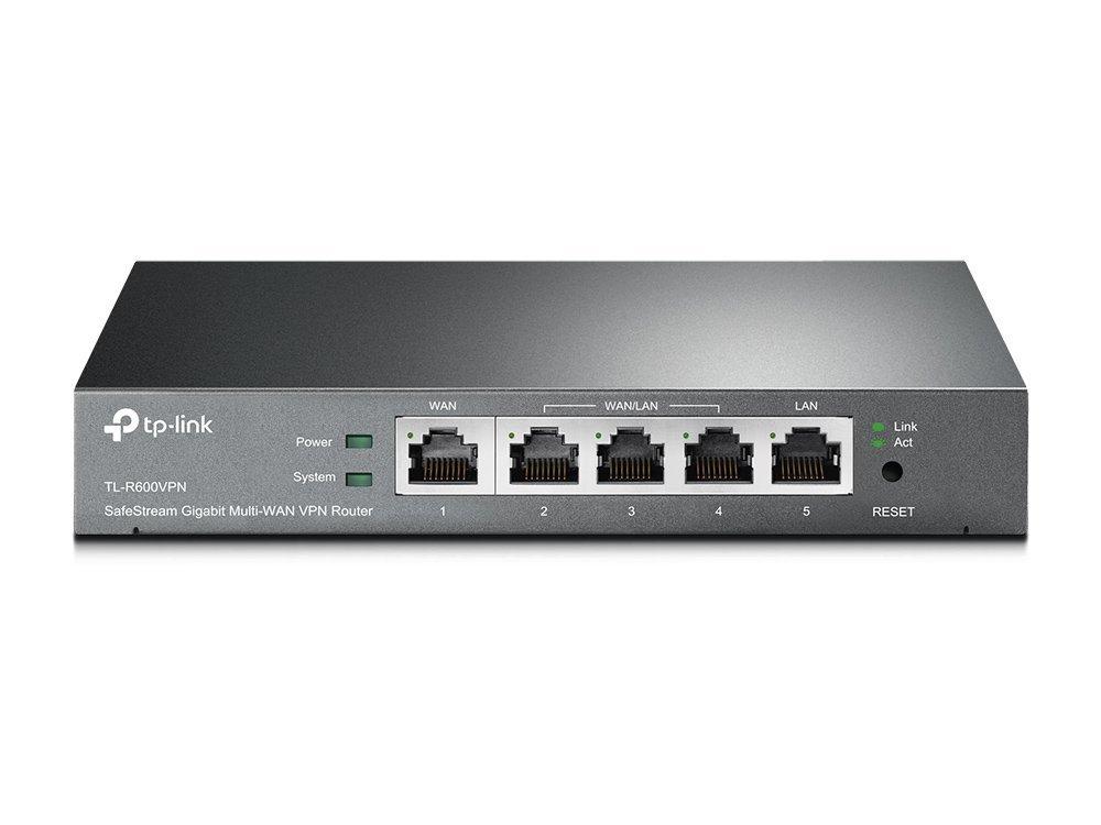 TP-Link SafeStream TL-R600VPN Gigabit Broadband Desktop VPN Router, 120M NAT throughput, 10k Concurrent Sessions, 256 DHCP Clients, 20 VPN Tunnels