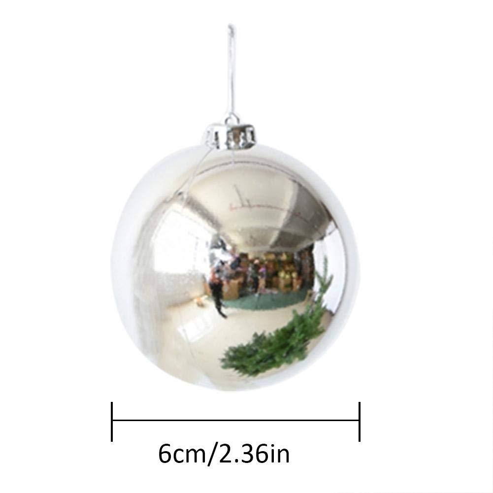 Tingtin 6pcs Weihnachtskugeln Ornamente Weihnachtsdekoration