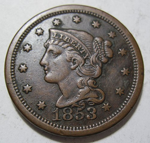 1853 Large Cent - 1853 early Large Cent About Uncirculated