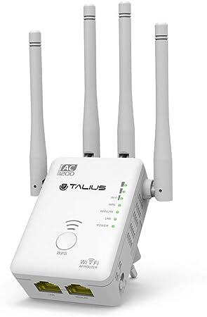 TALIUS Router/repetidor/Ap 1200Mb 4 Antenas RPT12004ANT - Repetidor de Red (Network Repeater, 1167 Mbit/s, 10,100 Mbit/s, 10/100Base-T(X), ...