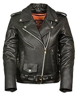 Milwaukee Women's Full Length Motorcycle Jacket with Side Lace (Black, X-Large) (B00UR914AE) | Amazon Products