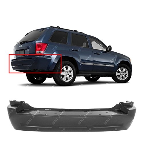 MBI AUTO - Primered, Rear Bumper Cover for 2005-2010 Jeep Grand Cherokee 05-10, CH1100865