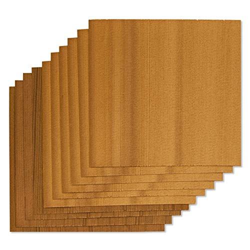 Fire & Flavor Natural Red Cedar Grilling Paper Wraps, 6 x 6, Bulk Size 100 Count by Fire & Flavor