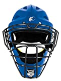 FORCE3 - The SAFEST Catcher's Mask ever made! (Hockey Style) Youth. NOCSAE Certified. Royal