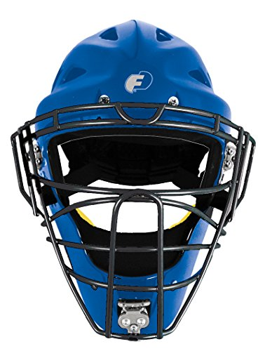 FORCE3 - The SAFEST Catcher's Mask ever made! (Hockey Style) Youth. NOCSAE Certified. Royal by Force3