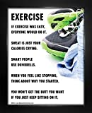 """Framed Exercise Fitness 8"""" x 10"""" Sport Poster Print"""