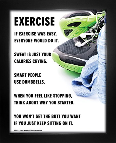 "Framed Exercise Fitness 8"" x 10"" Sport Poster Print by Posters and Prints by Magnetic Impressions"