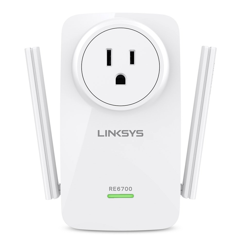 Linksys AC1200 Amplify Dual Band High-Power Wi-Fi Gigabit Range Extender / Repeater with Intelligent Spot Finder Technology and AC Pass Thru (RE6700) by Linksys (Image #2)