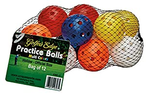 Unique Practice Golf Balls (12 Pack), Multicolor