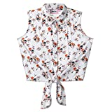 Isped Summer Shirts for Girls, Floral Sleeveless Casual Tops and Blouses for Girls