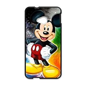 HTC One M7 Phone case Black Mickey Mouse QQA8794974