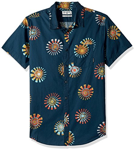 Billabong Men's Sunday Floral Short Sleeve Shirt, Navy, 2XL