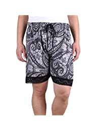ZERDOCEAN Women's Plus Size Printed Sleep Shorts Pajamas with Lace Trim