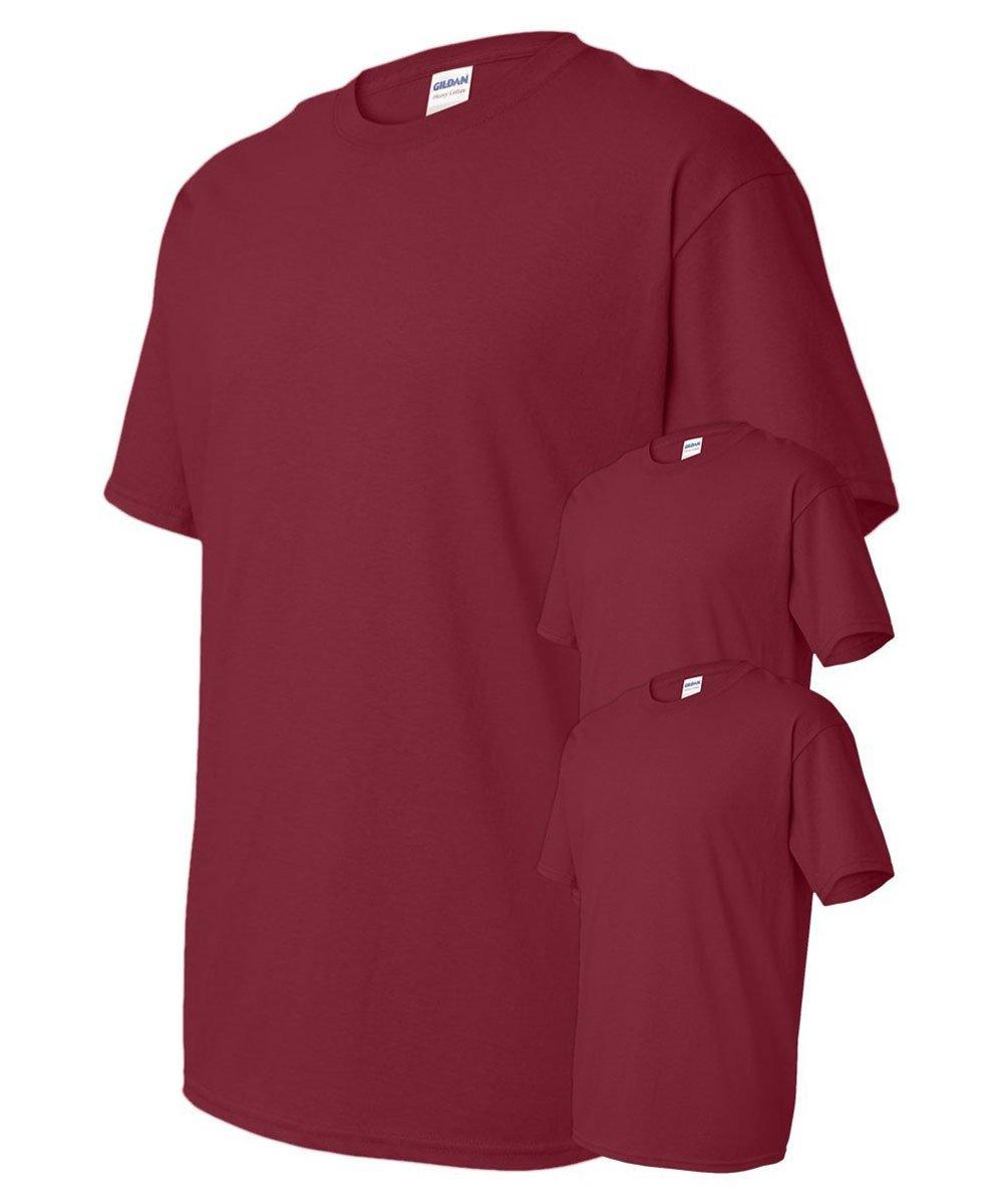 Gildan mens Heavy Cotton 5.3 oz. T-Shirt(G500)-GARNET-XL-3PK