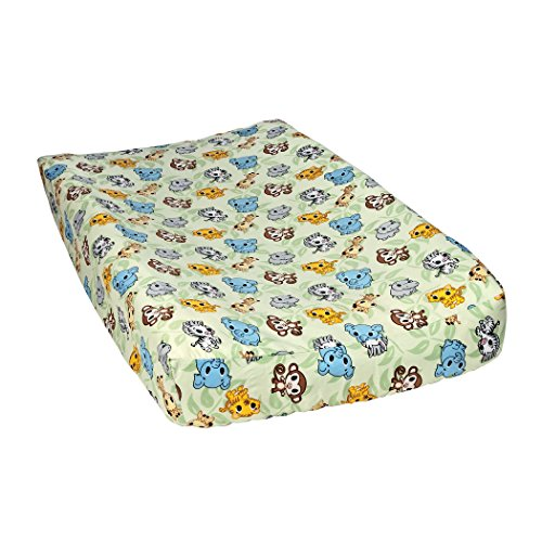 Trend Lab Chibi Zoo Changing Pad Cover, Sage (Chibi Zoo)
